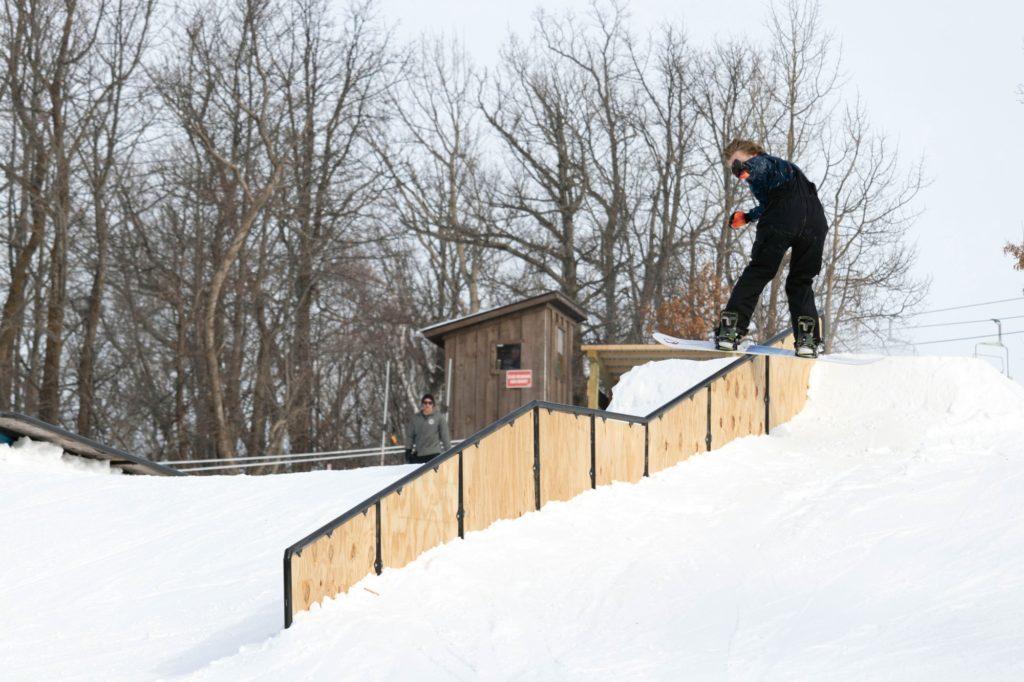 Nate Bujarski. DFD at Detroit Mountain terrain park - Colab Cookout February 2019.